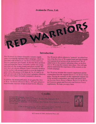 Panzer Grenadier: Red Warriors