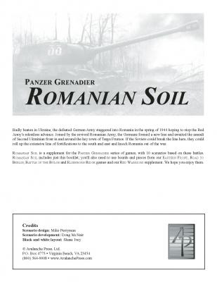 Panzer Grenadier: Romanian Soil