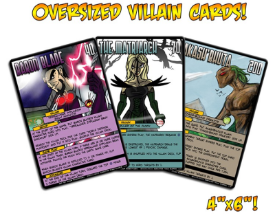Sentinels of the Multiverse - Oversized Villian Cards