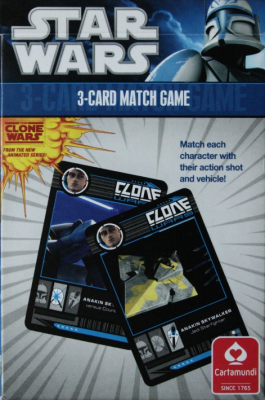 Star Wars, The Clone Wars  3-Card Match Game