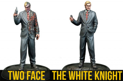 Batman Miniatures Game: The White Knight & Two-Face