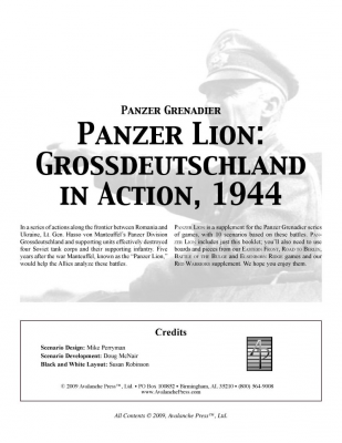 Panzer Grenadier: Panzer Lion: Grossdeutschland in Action, 1944