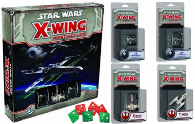 Star Wars: X-Wing Miniatures Game + 4 Expansions + Dice Pack