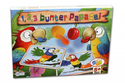 1, 2, 3 bunter Papagei