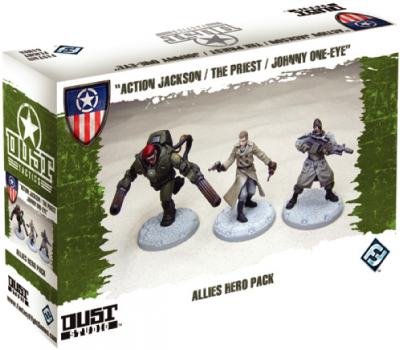 "Dust Tactics: Allies Hero Pack - ""Action Jackson / The Priest / Johnny One-Eye"""