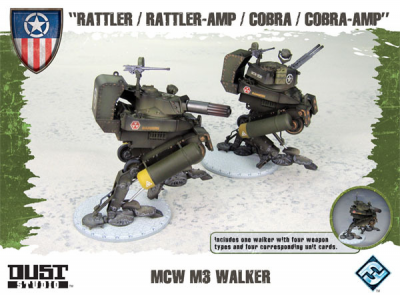 "Dust Tactics: MCW M3  Walker - ""Rattler / Rattler-Amp / Cobra / Cobra-Amp"""