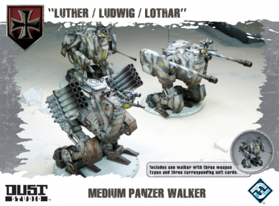 "Dust Tactics: Medium Panzer Walker - ""Luther / Ludwig / Lothar"""