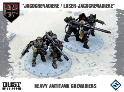 "Dust Tactics: Heavy Antitank Grenadiers - ""Jagdgrenadiere / Laser-Jagdgrenadiere"""