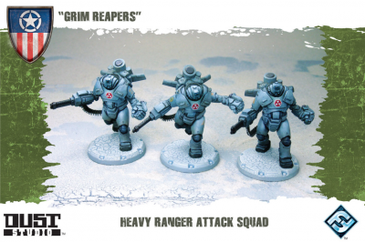 "Dust Tactics: Heavy Ranger Attack Squad -  ""Grim Reapers"""