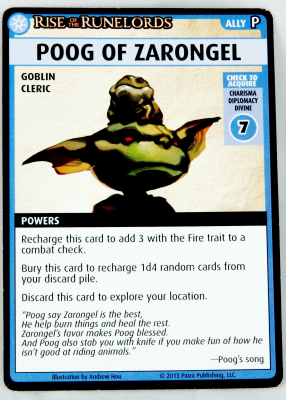 "Pathfinder Adventure Card Game: Rise of the Runelords - ""Poog of Zarongel"" Promo Card"