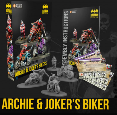 Batman Miniature Game: Archie & Joker's Bikers