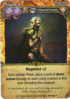 Mage Wars: Plagued Promo Card