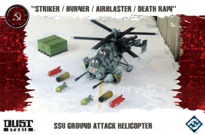 "Dust Tactics: SSU Ground Attack Helicopter - ""Striker / Burner / Airblaster / Death Rain"""