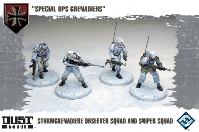 "Dust Tactics: Sturmgrenadiere Observer Squad and Sniper Squad - ""Special Ops Grenadiers"""