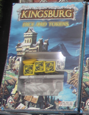 Kingsburg: Yellow Dice, Token, and Power Set