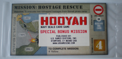 Hooyah: Navy Seals Card Game – Mission – Hostage Rescue Promo Card