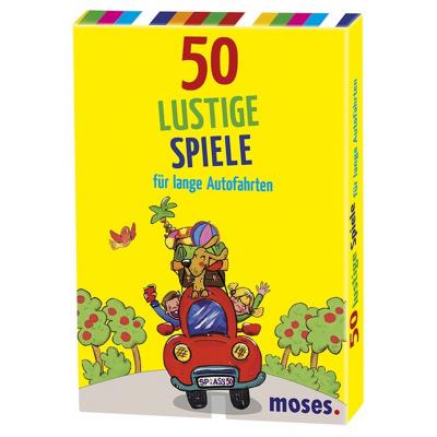 50 lustige Spiele für lange Autofahrten, 50 Karten
