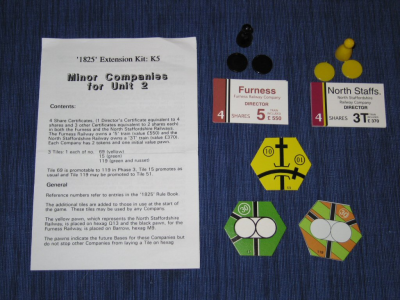 1825 Extension Kit K5: Minor Companies for Unit 2