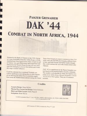 Panzer Grenadier: DAK '44