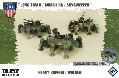 "Dust Tactics: Allies Heavy Support Walker - ""Long Tom II / Mobile HQ / Skysweeper"""