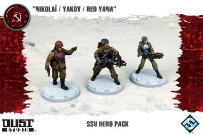 "Dust Tactics: SSU Hero Pack - ""Nikolaï / Yakov / Red Yana"""