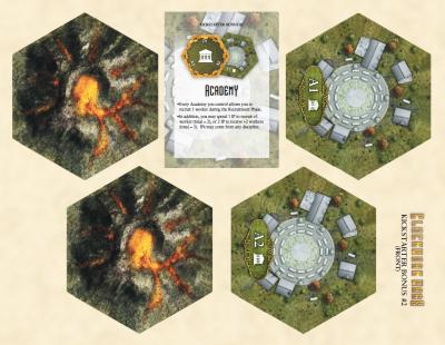 Clockwork Wars: Academy & Volcano Bonus Tiles