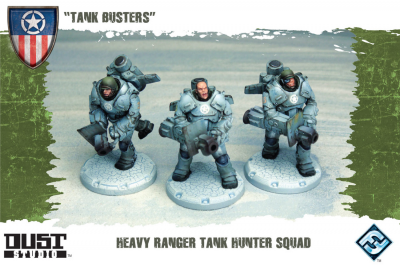 "Dust Tactics: Heavy Ranger Tank Hunter Squad - ""Tank Busters"""