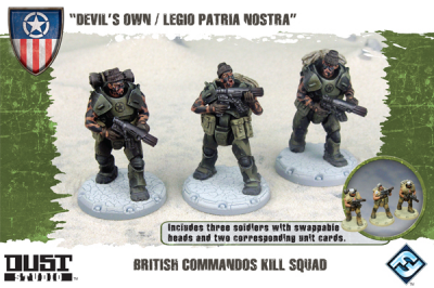 "Dust Tactics: British Commandos Kill Squad - ""Devil's Own / Legio Patria Nostra"""