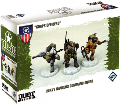 "Dust Tactics: Heavy Rangers Command Squad - ""Corps Officers"""