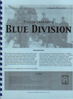 Panzer Grenadier: Blue Division