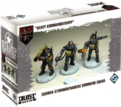 "Dust Tactics: Schwer-Sturmgrenadiere Command Squad - ""Heavy Kommandotrupp"""
