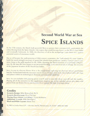 Second World War at Sea: Spice Islands