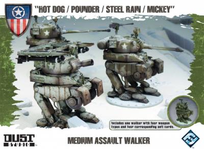 "Dust Tactics: Medium Assault Walker - ""Hot Dog / Pounder / Steel Rain / Mickey"""