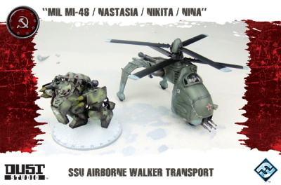 "Dust Tactics: SSU Airborne Walker Transport - ""MIL MI-46 / Nastasia / Nikita / Nina"""