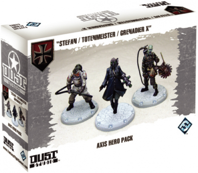 "Dust Tactics: Axis Hero Pack - ""Stefan / Totenmeister / Grenadier X"""