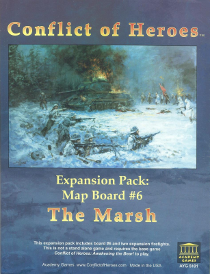 Conflict of Heroes Expansion Pack: Map Board #6 - The Marsh