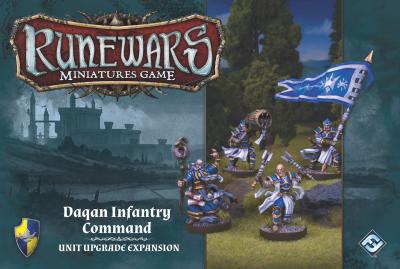 Runewars Miniatures Game: Daqan Infantry Command – Unit Upgrade Expansion