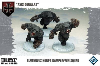 "Dust Tactics: Blutkreuz Korps Kampfaffen Squad - ""Axis Gorillas"""