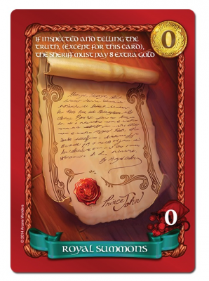 Sheriff of Nottingham: Royal Summons Promo Card