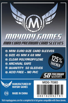 Mayday Mini Euro Premium Card Sleeves - 50x - 45x68mm