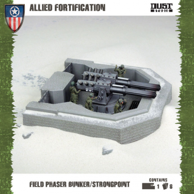 Dust Tactics: Allied Fortification - Field Phaser Bunker / Strongpoint