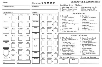 Folklore: Character Record Pad