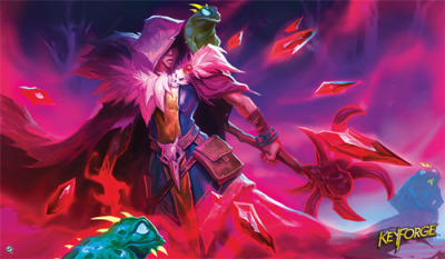 KeyForge: Worlds Collide - Xenos Bloodshadow Playmat