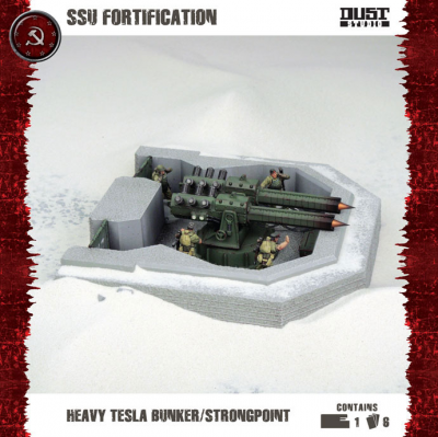 Dust Tactics: SSU Fortification - Heavy Tesla Bunker / Strongpoint