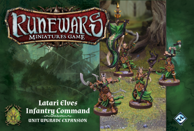 Runewars Miniatures Game: Latari Elves Infantry Command – Unit Upgrade Expansion