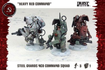 "Dust Tactics: Steel Guard NCO Command Squad - ""Heavy Red Command"""
