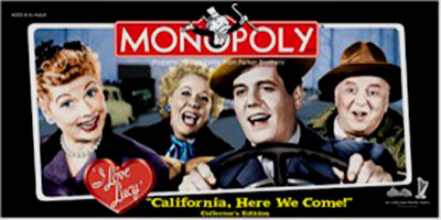 """Monopoly: I Love Lucy """"California, Here We Come"""""""