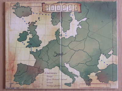 Eight-Minute Empire: Europe Expansion Board