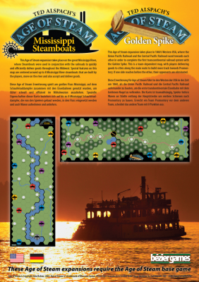 Age of Steam Expansion: Mississippi Steamboats / Golden Spike