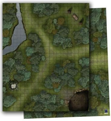 GameMastery Flip-Mat: Woodlands